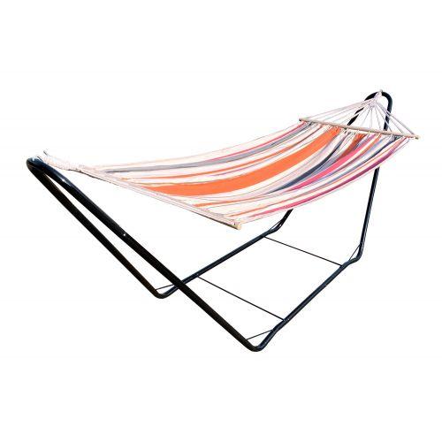 CHILLOUNGE® Sunrise - Eenpersoons spreidstok hangmat met gepoedercoate stalen standaard
