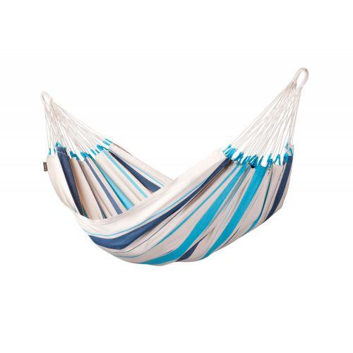 Caribeña Aqua Blue - Eenpersoons klassieke hangmat katoen