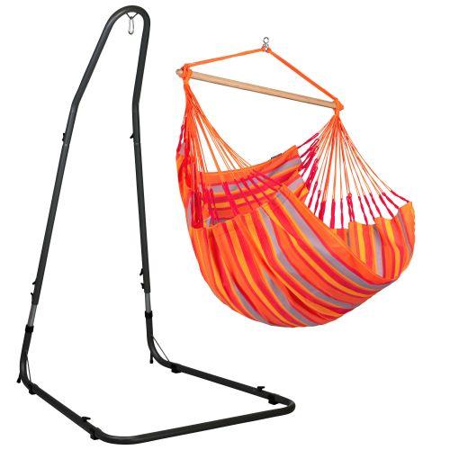 Domingo Toucan - Comfort hangstoel met gepoedercoate stalen standaard