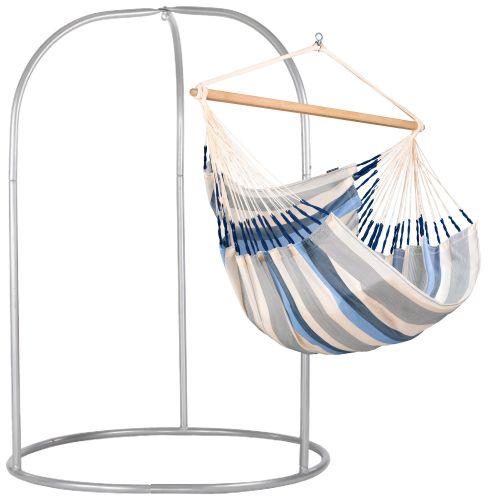 Domingo Sea Salt - Kingsize hangstoel met gepoedercoate stalen standaard