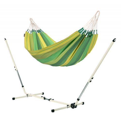 Orquídea Jungle - Eenpersoons klassieke hangmat met gepoedercoate stalen standaard