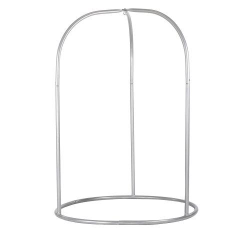 Romano Silver - Gepoedercoate stalen standaard voor basic of lounger hangstoelen
